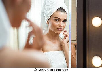 femme, traitement, évaluer, effets