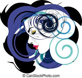 femme, vecteur, illustration