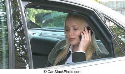 femme voiture, téléphone