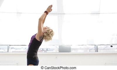 femme, yoga, exercice