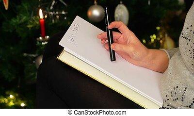 femmes, début, écrire, sant, lettre