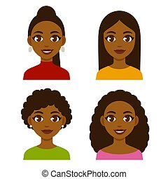 femmes, ensemble, noir
