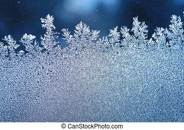 fenêtre, gelée, glace