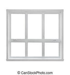 fenêtre, moderne, isolé, fond, blanc