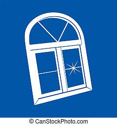 fenêtre, vecteur, plastique