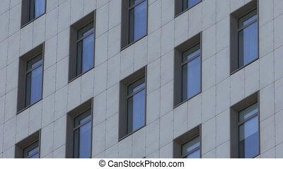 fenetres, bâtiment, moscou, nouveau, secteur, résidentiel, appartement, dormir, petit
