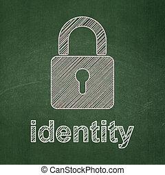 fermé, cadenas, protection, concept:, fond, identité, tableau