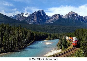 ferroviaire, pacifique, canadien