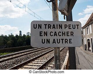 ferroviaire, trafic, français signent