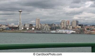 ferry-boat, aiguille, vue, espace
