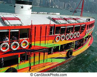 ferry-boat, coloré