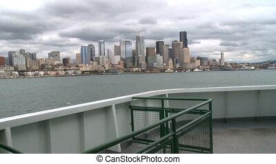 ferry-boat, pour, seattle, croisières