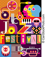 festival, affiche, jazz