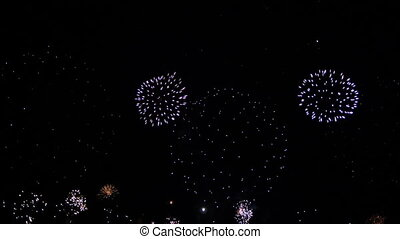 festival, feux artifice, -, hd