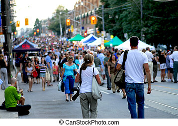 festival, rue