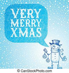 fetes, bonhomme de neige, babioles