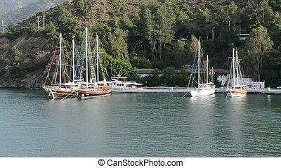 fethiye, yacht, recours, turc