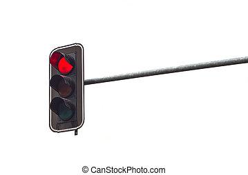 feu circulation, arrêt, feu rouge