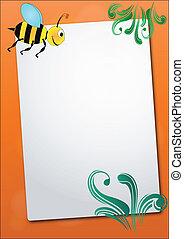 feuille, abeille