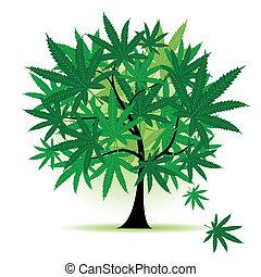 feuille, art, arbre, fantasme, cannabis