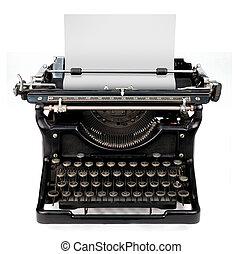 feuille blanche, machine écrire