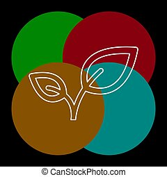 feuille, illustration, nature, vecteur, vert, organique