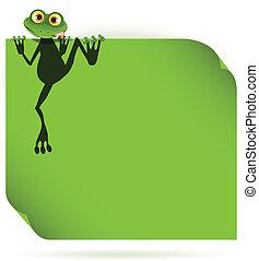 feuille verte, grenouille