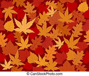 feuilles automne, papier peint, vibrantly, coloré