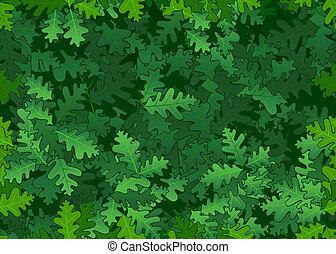 feuilles, chêne, seamless, texture