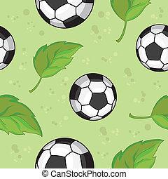 feuilles, football, seamless