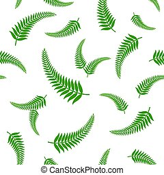 feuilles vertes, pattern., seamless, fougère