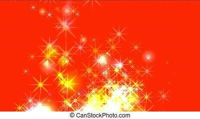 feux artifice, doré, étoiles, éblouissant