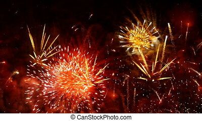 feux artifice, -, hd, exposition