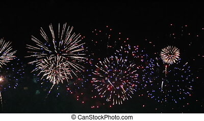feux artifice, seamless, boucle