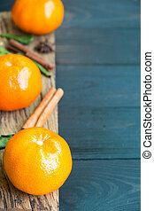 fibre, bois, mandarin, diététique, orange, odeur