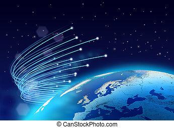 fibres, optique, vitesse, internet