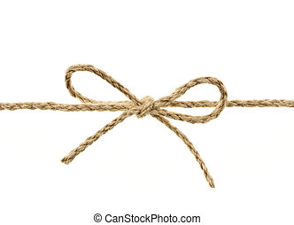 ficelle, attaché, arc