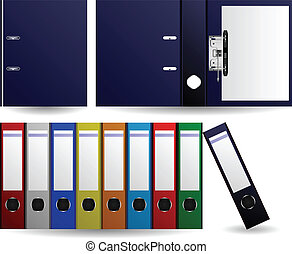 fichiers, dossiers, vecteur