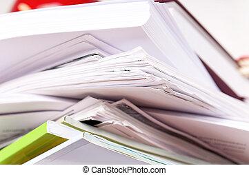 fichiers, papier, vieux