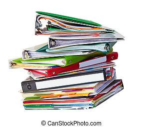 fichiers, vieux, pile