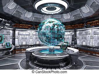 fiction, science, espace, 3d, bateau, rendre
