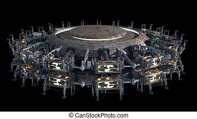 fiction, vaisseau spatial, science
