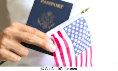 fier, passeport, american., nous