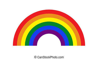 fierté, 4k, coloré, symbole, arc-en-ciel, glitch, exposer, vieux, ou, pixel, écran, animation., vidéo, lgbt., gay, retro, métrage