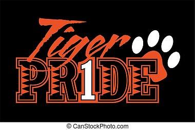 fierté, tigre