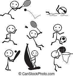 figure bâton, sports