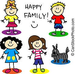 figure, crosse, gay, family-women