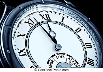 figure, montre, closeup, horloge