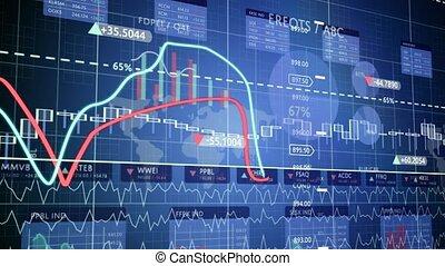 figures, augmenter, financier, profits., diagrammes
