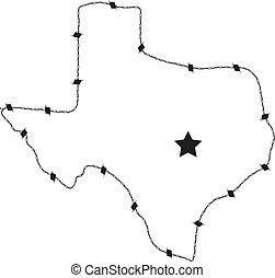 fil barbelure, texas